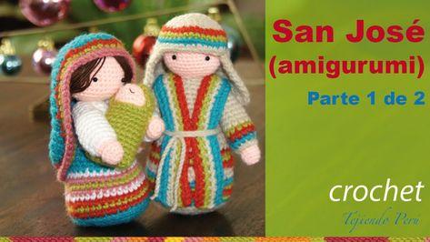Tejido Amigurumi Tutorial : San josé tejido a crochet amigurumi parte 1 de 2 karácsonyi