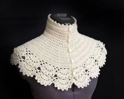 Hand knit shawl Crochet capelet Cream shawl Wedding shawl | Etsy