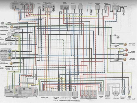 1986 Yamaha Virago 1100 Wiring Diagram 1981 yamaha 750 ... on
