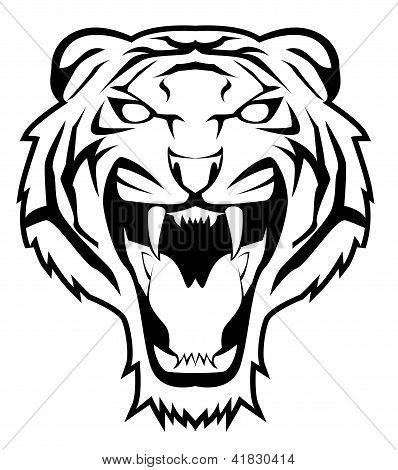 Tiger Face Eps Editable Vector Of Illustration Design Poster Id 41830414 Tiger Face Tiger Stencil Illustration Design Poster