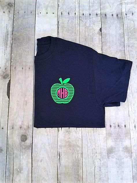 Pocket Size Monogram Teacher T Shirt Teacher Monogram Shirt