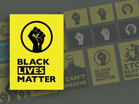 Black Lives Matter Graphics Sketch Freebie