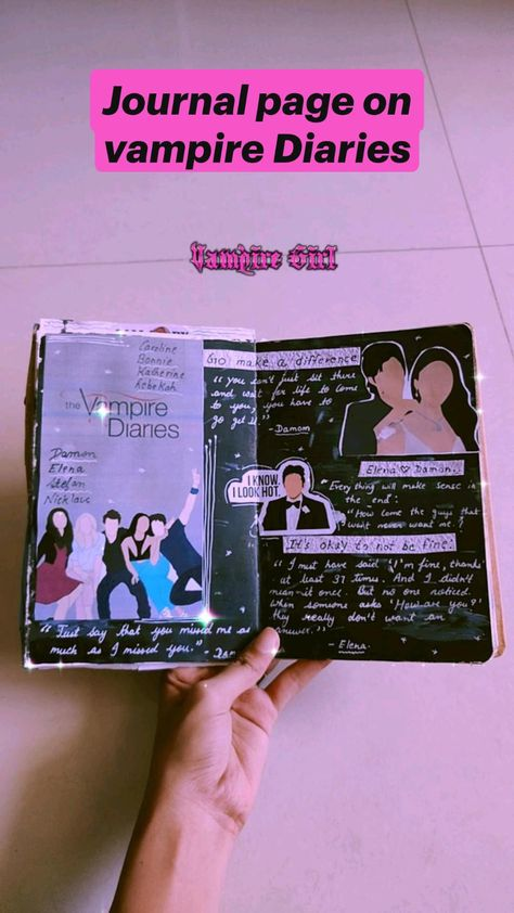 Journal page on vampire Diaries