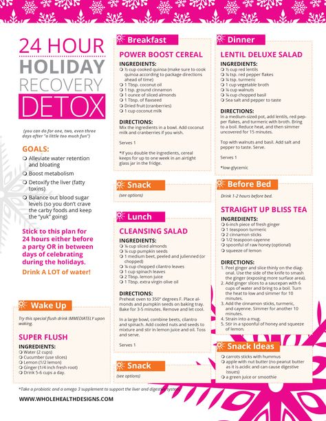Too much fun at the holiday party? Follow this easy detox plan to flush toxins and cleanse the liver. Download your free copy.