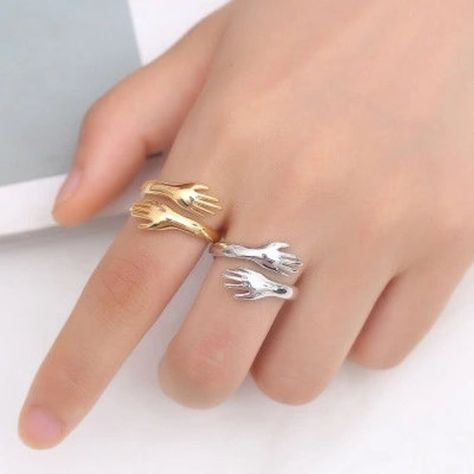 Unique silver hug ring for women,mens ring stackable,delicate womens ring,14k gold ring,statement ring,open ring,womens gift ring,girls gift,birthday gift,wedding gift,christmas gift,thanks giving gift,valentines day gifts,gift for mom,wifes gifts. ***Authentic Minimalist Hug Ring Products*** ITS