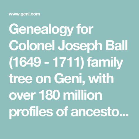 joseph ball ball joseph family search