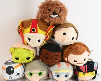 Ad Tsum Tsum Star Wars Lot Of 10 Mini Plush Toy Disney Store Tsum Tsum Star Wars Toys Disney Store