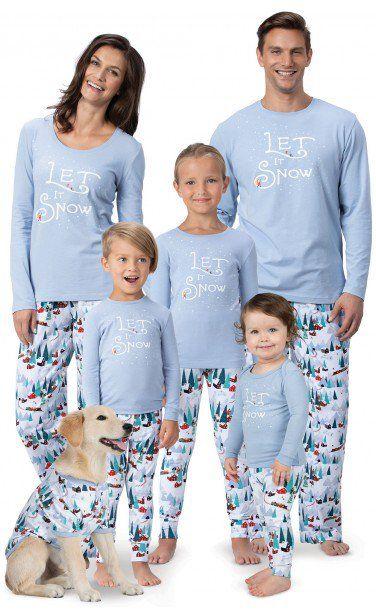 Family Christmas Pajamas 2019.Let It Snow Matching Family Pajamas Christmas In 2019