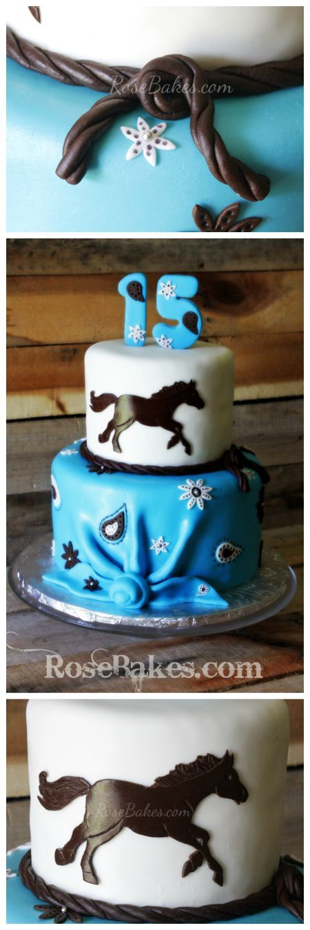 Horses Cake for Three Sisters Horse cake Cake and Birthday cakes