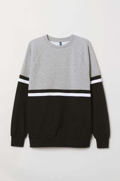 Shop online for hoodies and sweatshirts for men at H&M. Choose from classic black hoodies, printed sweatshirts and zip-up styles. Cute Sweatshirts, Printed Sweatshirts, Teen Fashion Outfits, Casual Outfits, Fashion Shirts, Mens Polo T Shirts, Shirt Style, Look, Green Stripes