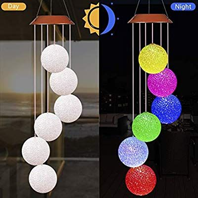 Solar LED Chinese Lantern Light Outdoor Waterproof Festival Print Hanging Lamp//B