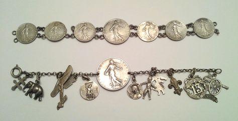 WW I coin bracelets, reverse image.