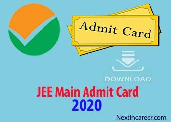 Jee Main Admit Card Hall Ticket 2020 Date Releasing On 31st March With Images Engineering Exam Card Downloads Aadhar Card