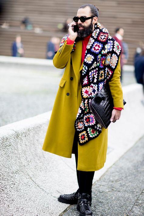 The Street Style Crowd Wore Pops of Orange at Milan Men's Fashion Week | Fashionista