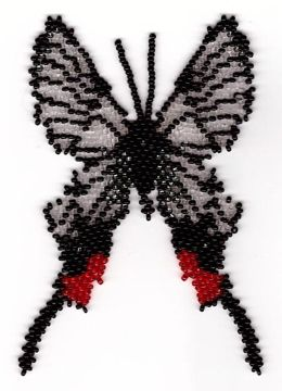 Butterfly Chorinea Faunus by Katherina Kostinsky at Bead-Patterns.com