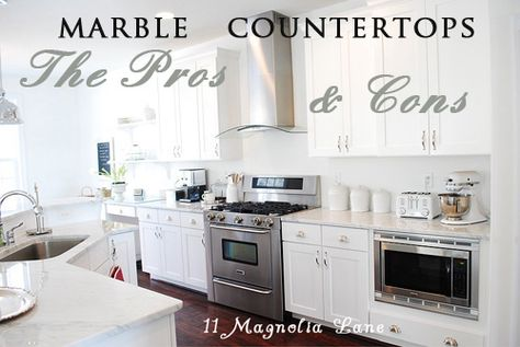 Pros and cons of marble counters from 11 Magnolia Lane