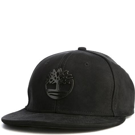 484a938ec1aa6 Timberland Metal Charm Snapback Hat Black