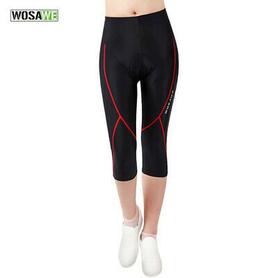 Sponsored Ebay Wosawe Women Racing Cycling Cropped Pants Quick Dry Sweat Absorbing Trousers Cycling Pants Cycling Women Padded Bike Shorts