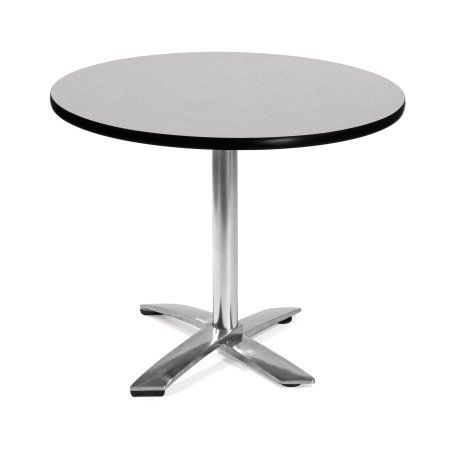 Ofm Model Ft36rd 36 Inch Round Flip Top Multi Purpose Table Gray