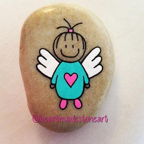 paintingrocks #angels #angelwings #angelkids...