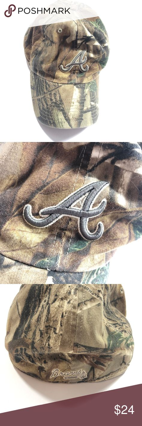 Atlanata Brave Camo Camouflage Baseball Hat This Atlanta Braves hat is a country boys dream. One of the best baseball teams in the country and the classic Camouflage print pattern.Thank you for looking and feel free to add with another item from my closet for an additional discount or send me a great offer! 219219 Atlanta Braves Accessories Hats
