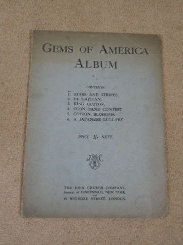 Details about Vintage Sheet Music Gems of America Album John