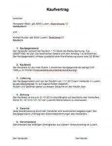 kaufvertrag vorlage schweiz - Kaufvertrag Hund Muster