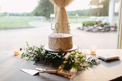 #weddingcake #cakestand #caketopper #uniquecaketopper #love #philly #shore #coastalwedding #cakecuttingset #cakeknifeandserver #greenery #gray #ivory #charcoal #gold #buttercream #weddingcakeideas #weddingcakeinsporation #singletier #caketier #firstcakecut #weddingreception #weddingvenue #njweddingvenue #summerwedding #rusticwedding #bohowedding #ronjaworskiweddings #blueheronweddings #bohoweddingideas #weddingdecorideas #simpleweddingideas #golfcourse #golfcoursewedding P: Pat Furey Photo