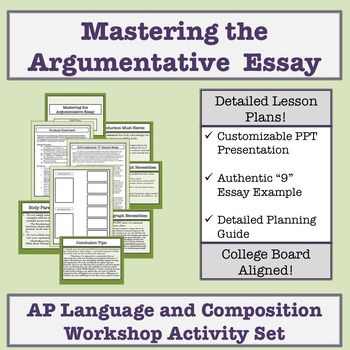 Ap Language And Composition Mastering The Argumentative Essay