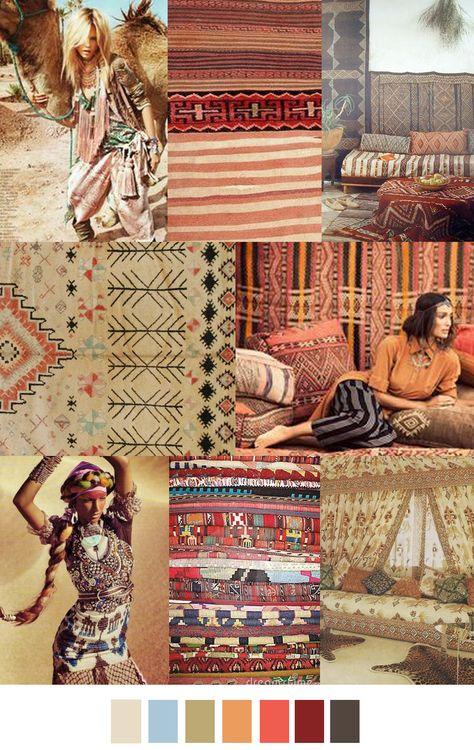 sources: fashiongonerogue.com, alainrichert.tumblr.com, garoopatternandcolour.tumblr.com, mmontague.com, theglamourai.com, bohemiadesign.tumblr.com, bohosantafetrail.tumblr.com, theartofther...