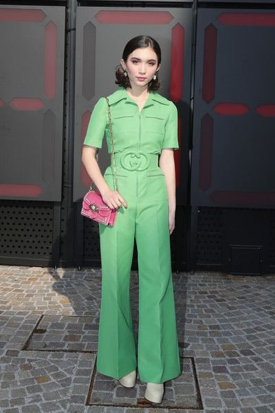 Rowan Blanchard Photos - Rowan Blanchard arrives at the Gucci show during Milan Fashion Week Fall/Winter 2018/19 on February 21, 2018 in Milan, Italy. - Gucci  - Arrivals - Milan Fashion Week Fall/Winter 2018/19