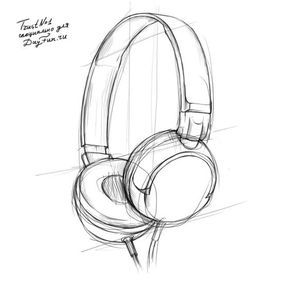 How To Draw Headphones Step By Step 3 Headphones Drawing Object Drawing 3d Drawings