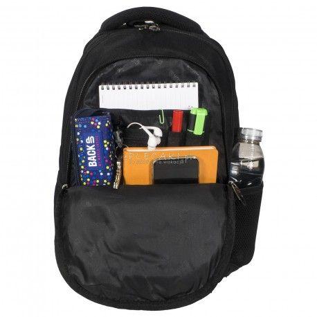 af6f96524232c Plecak BackUP C 27 czarny do szkoły - fajny plecak dla chłopaka ...