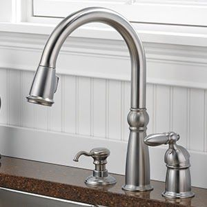 Delta Victorian Kitchen Faucet 16955 Sssd Dst Victorian Stainless 1 Handle Deck Mount Pul In 2020 Victorian Kitchen Faucets Delta Kitchen Faucet Kitchen Faucet Repair