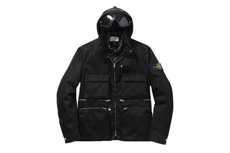 Supreme x Stone Island Raso Gommato Cover Nero Jacket Black