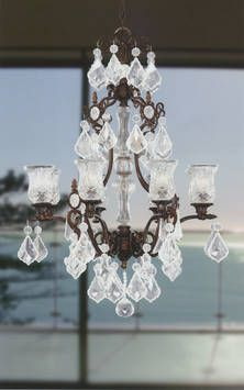 French Fl Crystal Chandelier Provincial Furniture Lighting Pinterest And