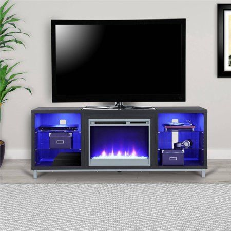 Ameriwood Home Lumina Fireplace Tv Stand For Tvs Up To 70 Wide