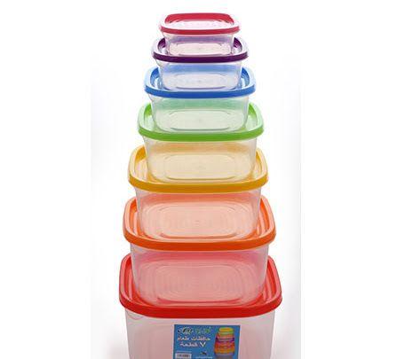 حافظات طعام ٧ قطع ١٢ طقم تمه تمه قروب حافظات طعام حافظه طعام Bowl Tableware Kichen