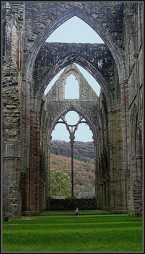 <3 Tintern Abbey in south Wales was dissolved by Henry VIII. The Abbey is 881 years old. | by Adolfita..Absolutely MAGNIFICENT! <3