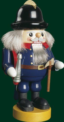 Nutcracker FirefighterFolk Art made of natural wood Height of 76 inches >>> You can get more details by clicking on the image.