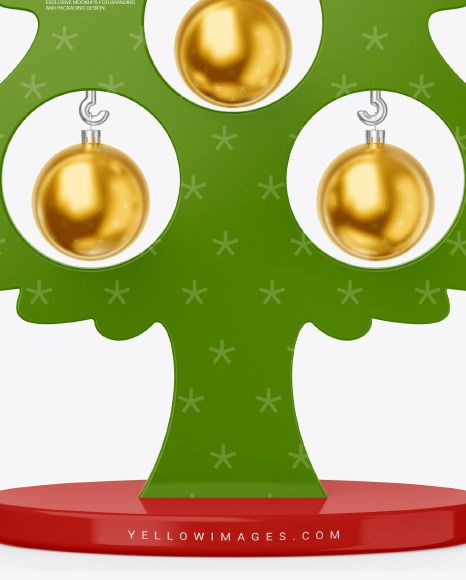 Glossy Christmas Tree Toy W Balls Mockup In Object Mockups On Yellow Images Object Mockups In 2021 Christmas Tree Toy Christmas Tree Toy Trees