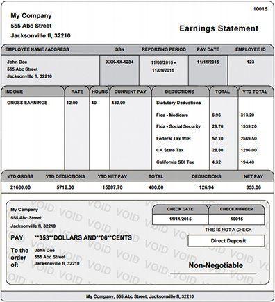 Real Paycheck Stubs Home Payroll Checks Payroll Payroll Template
