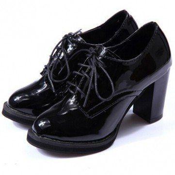 Black Oxford heels