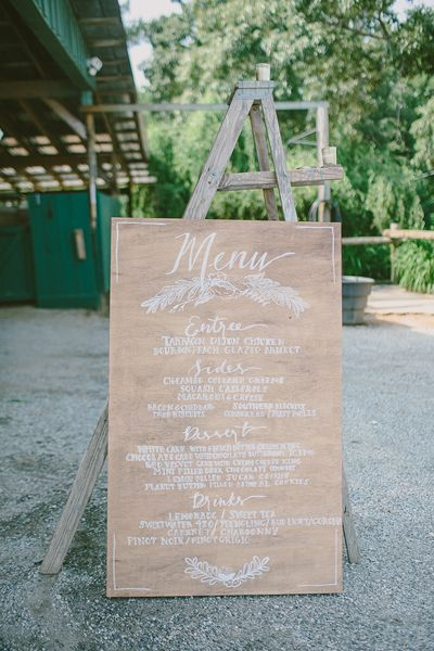 wooden menu | Paige Jones #wedding