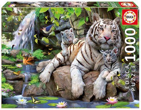 Tigre Del Bengala Bianco Puzzle 1000 Pezzi Puzzle Animali