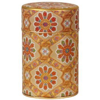 Gold Patchwork Canister