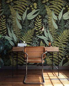 Botanische Grun Schale Und Stick Wallpaper Fern Wallpaper