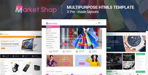 Marketshop — Responsive Multipurpose E-Commerce HTML5 Template | Stylelib