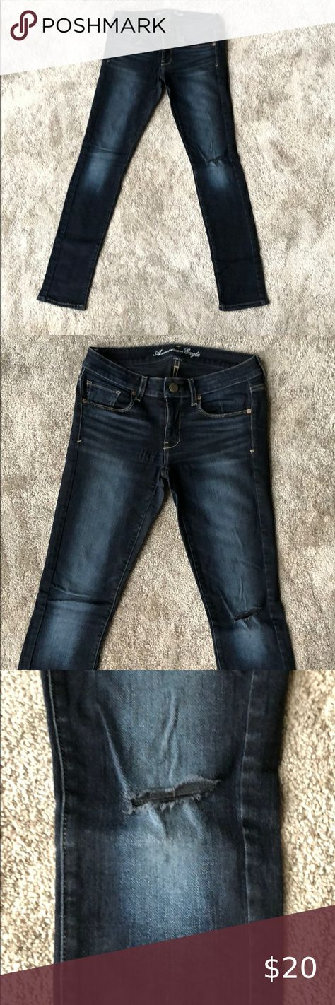 I just added this listing on Poshmark: Extremely Dark Wash Skinny Stretch Jeans. #shopmycloset #poshmark #fashion #shopping #style #forsale #American Eagle Outfitters #Denim