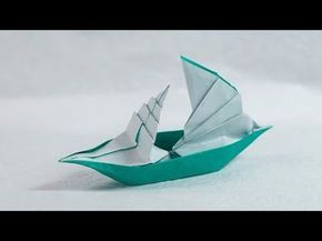Origami Sailing Boat That Floats On Water Henry Phạm Youtube Paper Boat Origami Origami Ship Origami Sailboat